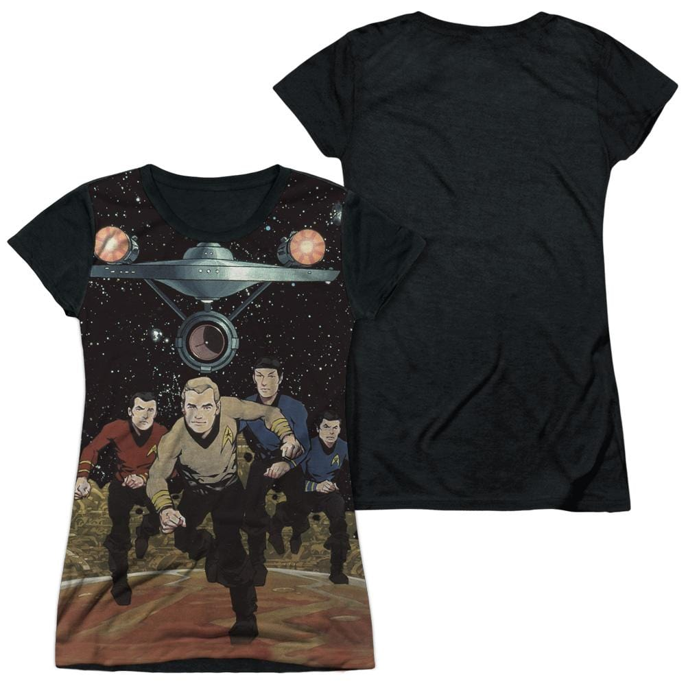 Star Trek - Running Junior All Over Print 100% Poly T-Shirt