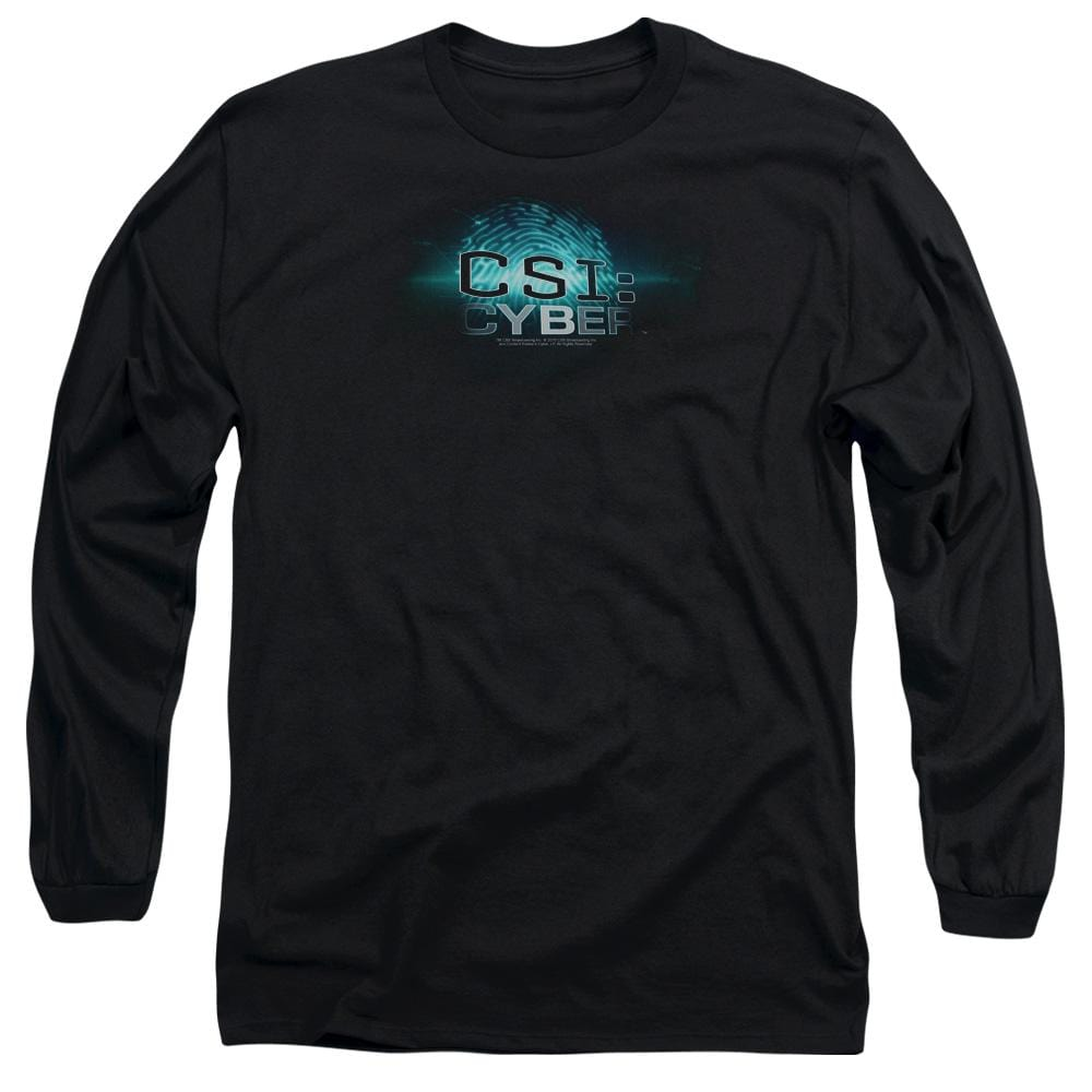 Csi: Cyber Thumb Print Adult Long Sleeve T-Shirt