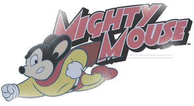 Mighty Mouse Mighty Retro Juniors T-Shirt