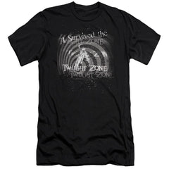 Twilight Zone I Survived Adult Slim Fit T-Shirt