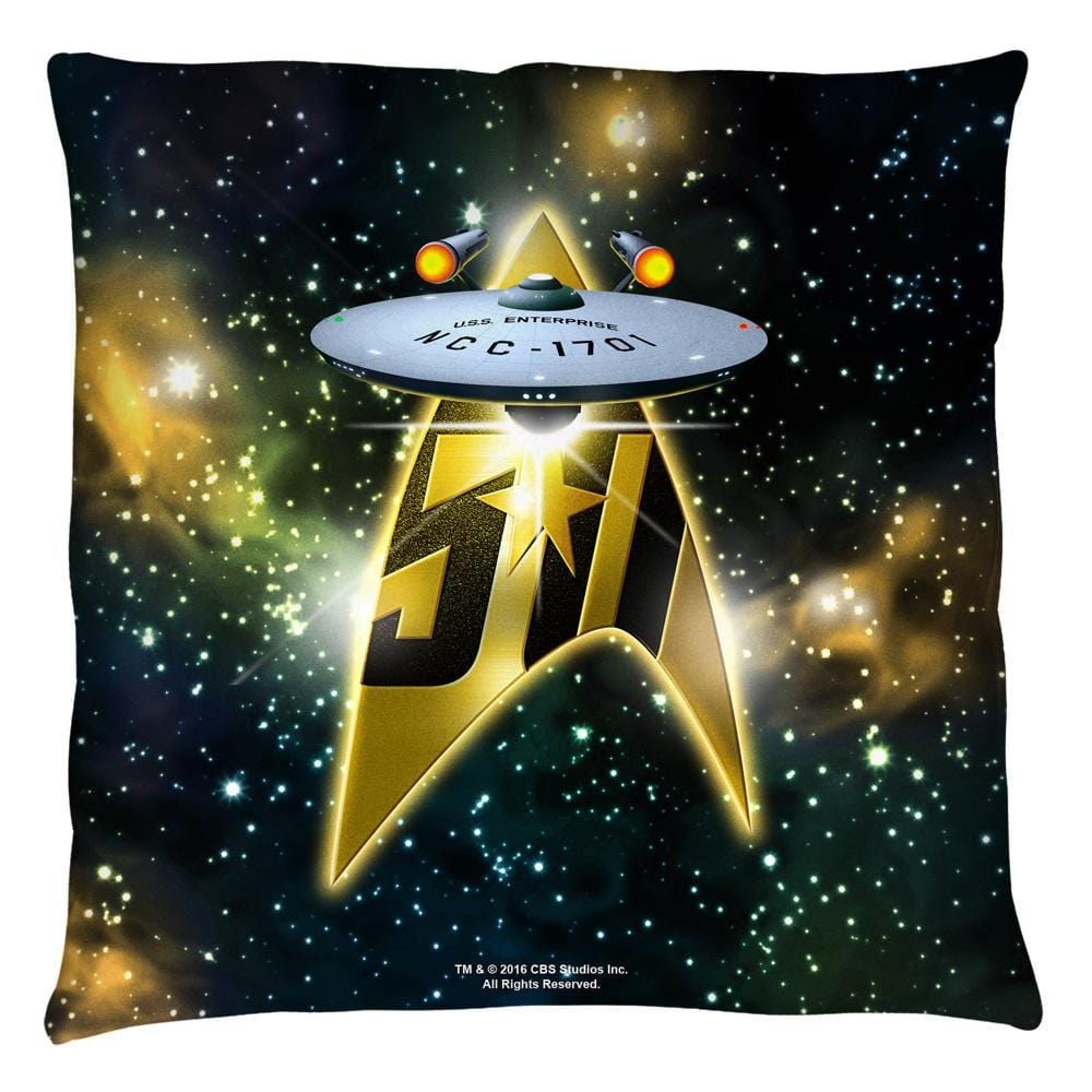 Star Trek - 50th Ship Throw Pillow