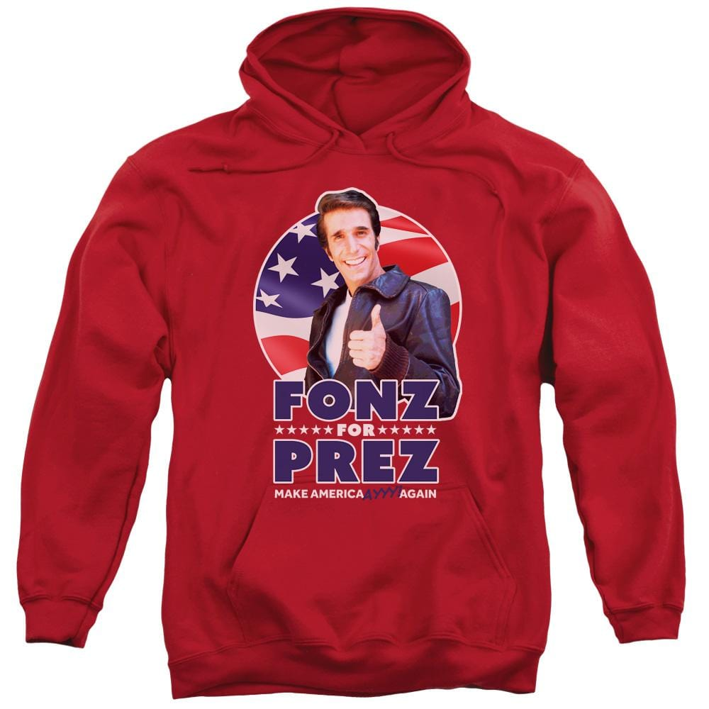 Happy Days - Fonz For Prez Adult Pull-Over Hoodie