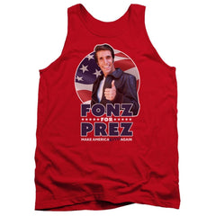 Happy Days - Fonz For Prez Adult Tank Top