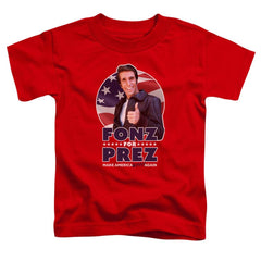 Happy Days - Fonz For Prez Toddler T-Shirt
