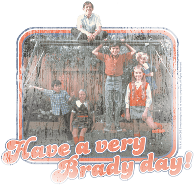 Brady Bunch Have A Very Brady Day! Youth T-Shirt (Ages 8-12)