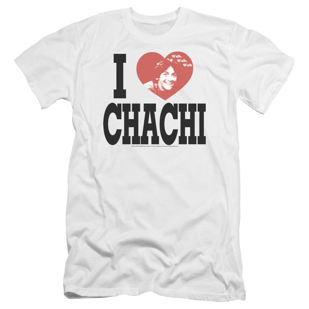 Happy Days I Heart Chachi Premium Adult Slim Fit T-Shirt