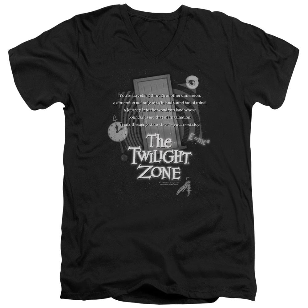 Twilight Zone - Monologue Adult V-Neck T-Shirt