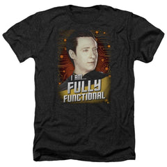 Star Trek Fully Functional Adult Regular Fit Heather T-Shirt