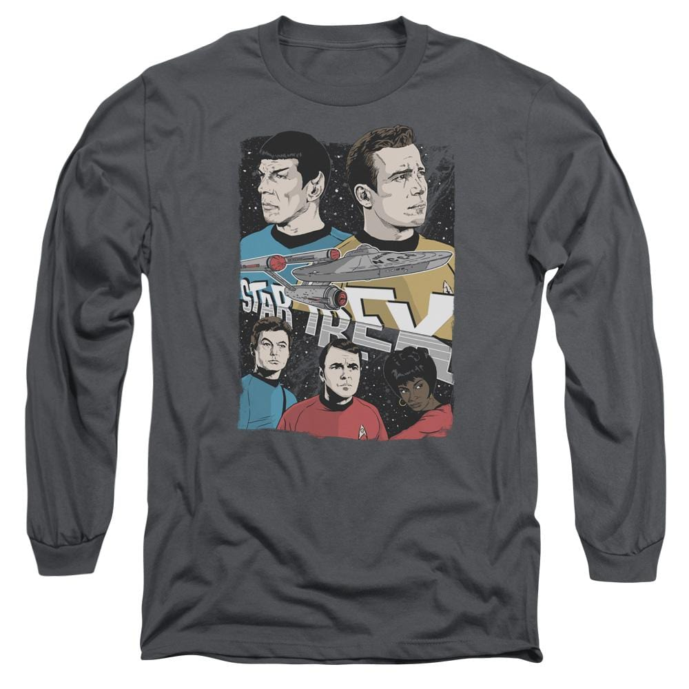 Star Trek Illustrated Crew Adult Long Sleeve T-Shirt