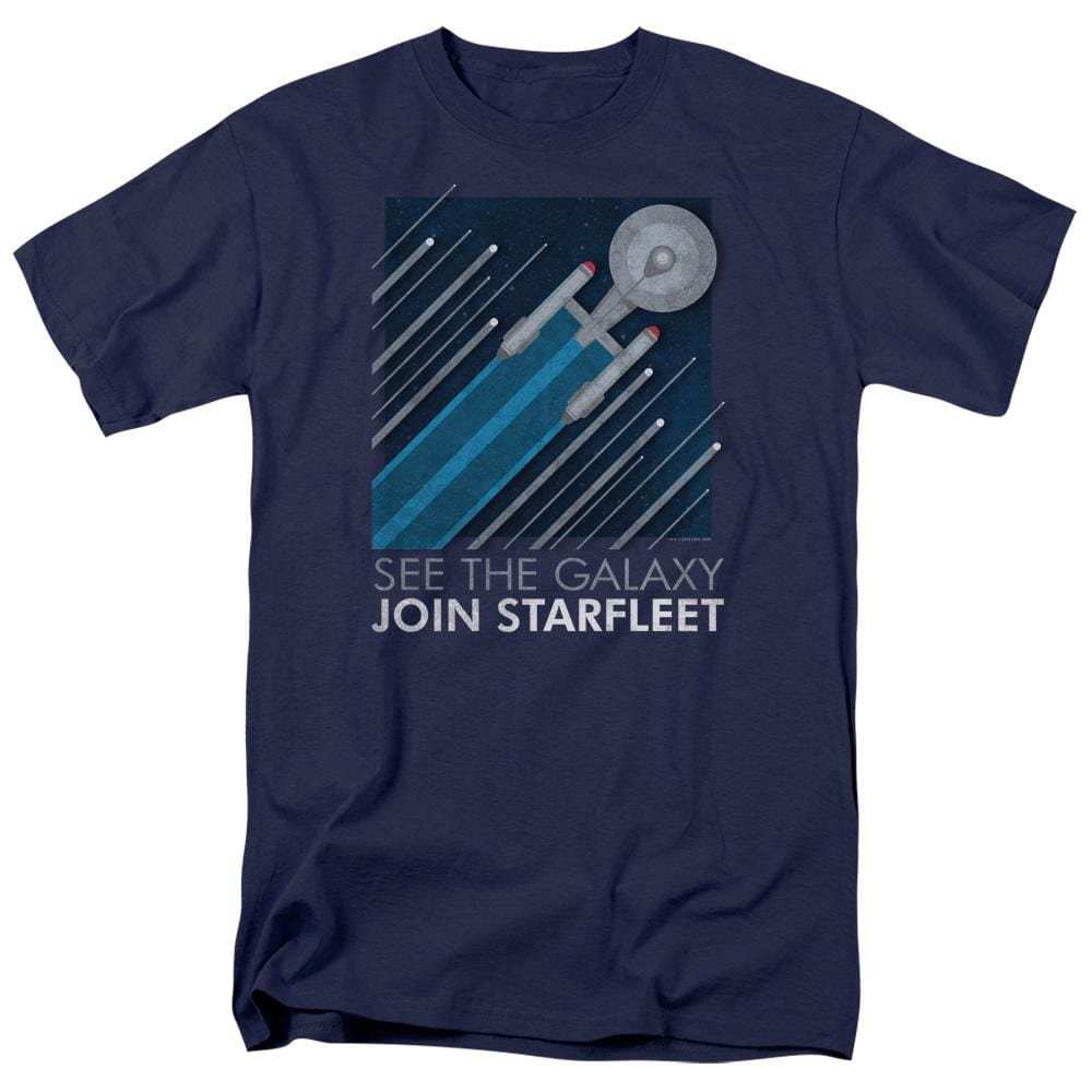 Star Trek Starfleet Recruitment Poster Adult Regular Fit T-Shirt