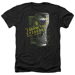 Csi I Drank The Evidence Adult Regular Fit Heather T-Shirt