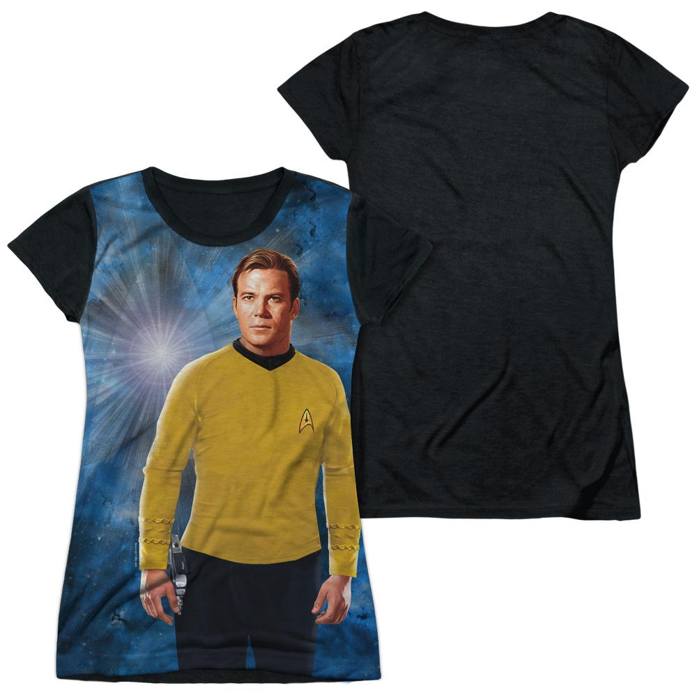 Star Trek Ship For My Captain Junior Black Back 100% Poly T-Shirt