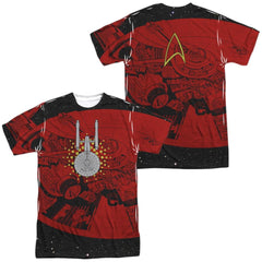 Star Trek Uss Enterprise Schematic Adult All Over Print 100% Poly T-Shirt