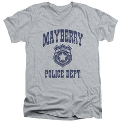 Andy Griffith Show Mayberry Police Adult V-Neck T-Shirt