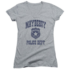 Andy Griffith Show Mayberry Police Junior V-Neck T-Shirt