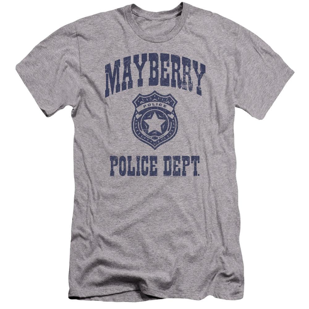 Andy Griffith Show Mayberry Police Premium Adult Slim Fit T-Shirt