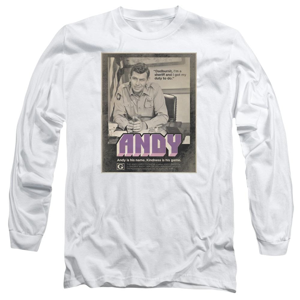 Andy Griffith Show Andy Adult Long Sleeve T-Shirt