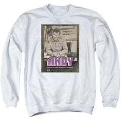 Andy Griffith Show Andy Adult Crewneck Sweatshirt