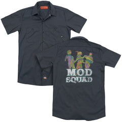 Mod Squad Mod Squad Run Groovy Adult Work Shirt