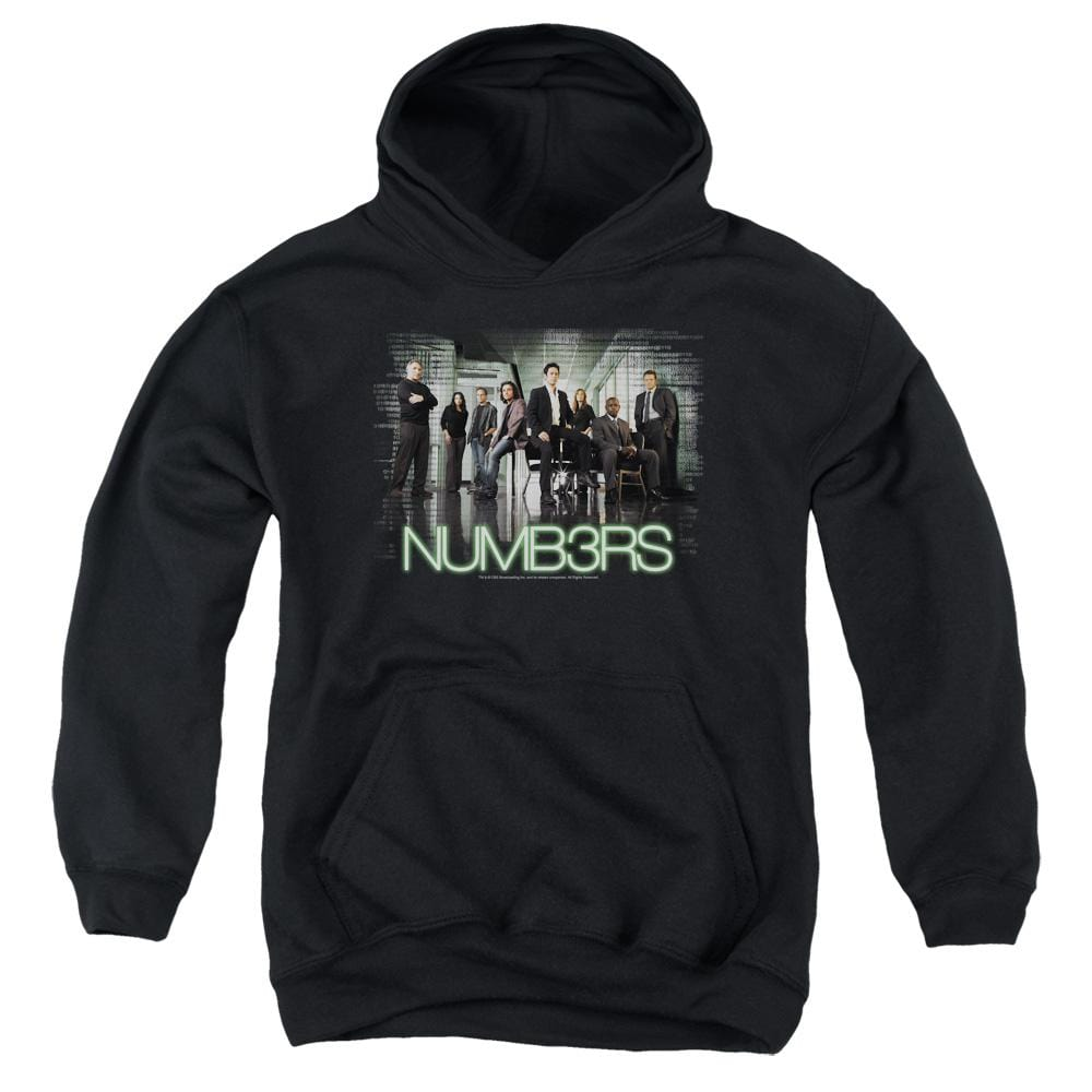 Numb3rs Numbers Cast Youth Pull-Over Hoodie