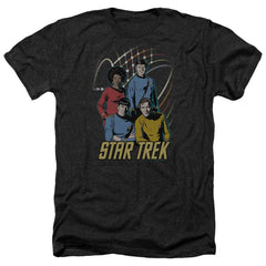 Star Trek Warp Factor 4 Adult Regular Fit Heather T-Shirt