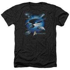 Star Trek Starfleet Vessels Adult Regular Fit Heather T-Shirt