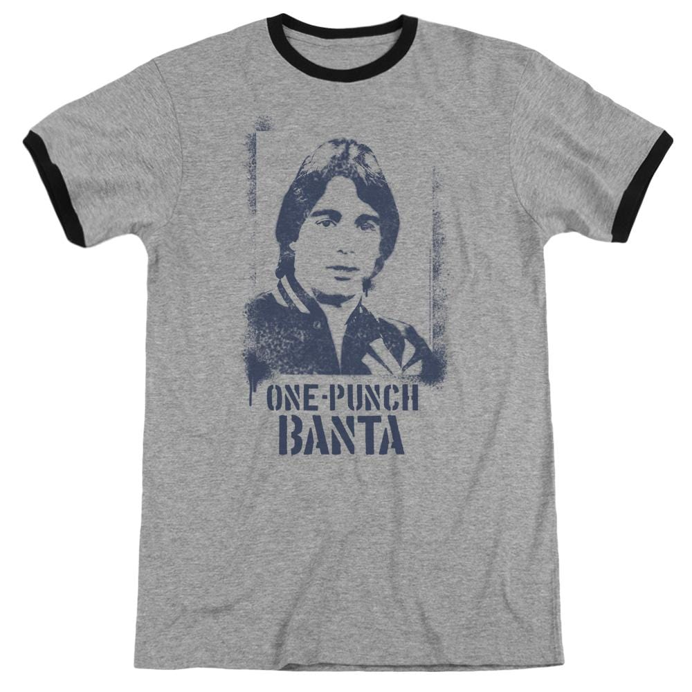 Taxi - One Punch Banta Adult Ringer T- Shirt