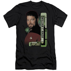 Star Trek Riker Adult Slim Fit T-Shirt