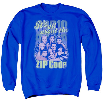 Beverly Hills 90210 Zip Code Men's Crewneck Sweatshirt