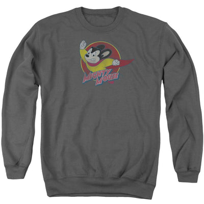 Mighty Mouse Mighty Circle Men's Crewneck Sweatshirt