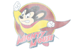 Mighty Mouse Mighty Circle Juniors V-Neck T-Shirt