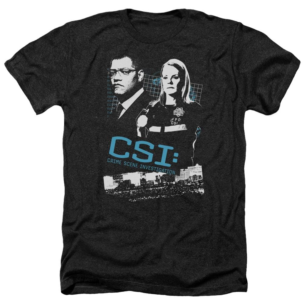 Csi Investigate This Adult Regular Fit Heather T-Shirt