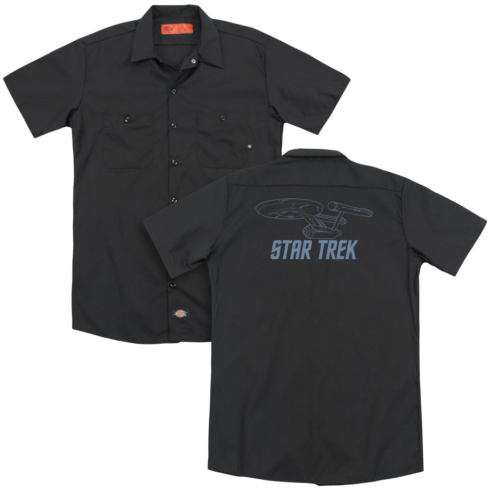 Star Trek Enterprise Outline Adult Work Shirt