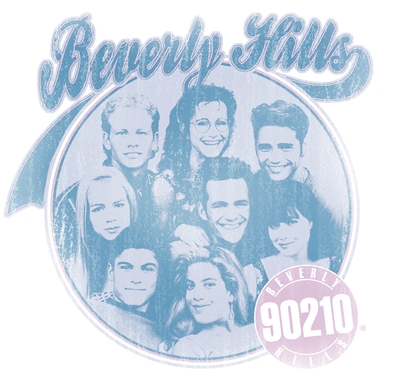 Beverly Hills 90210 Circle Of Friends Juniors T-Shirt