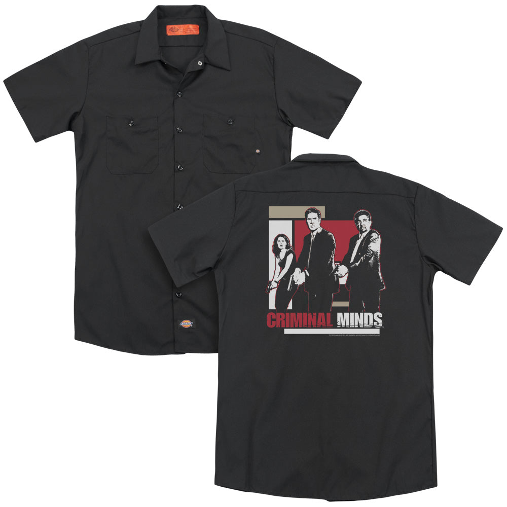 Criminal Minds Guns Drawn Adult Work Shirt