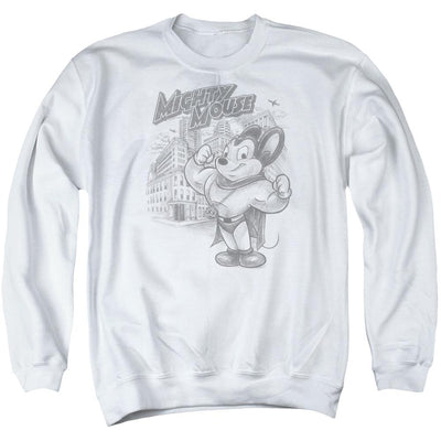 Mighty Mouse Protect And Serve Men's Crewneck Sweatshirt