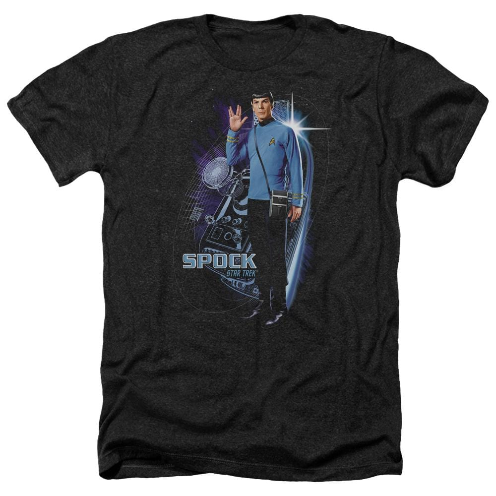 Star Trek Galactic Spock Adult Regular Fit Heather T-Shirt