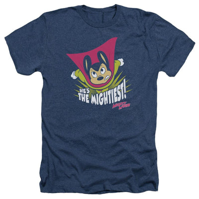 Mighty Mouse The Mightiest Men's Heather T-Shirt
