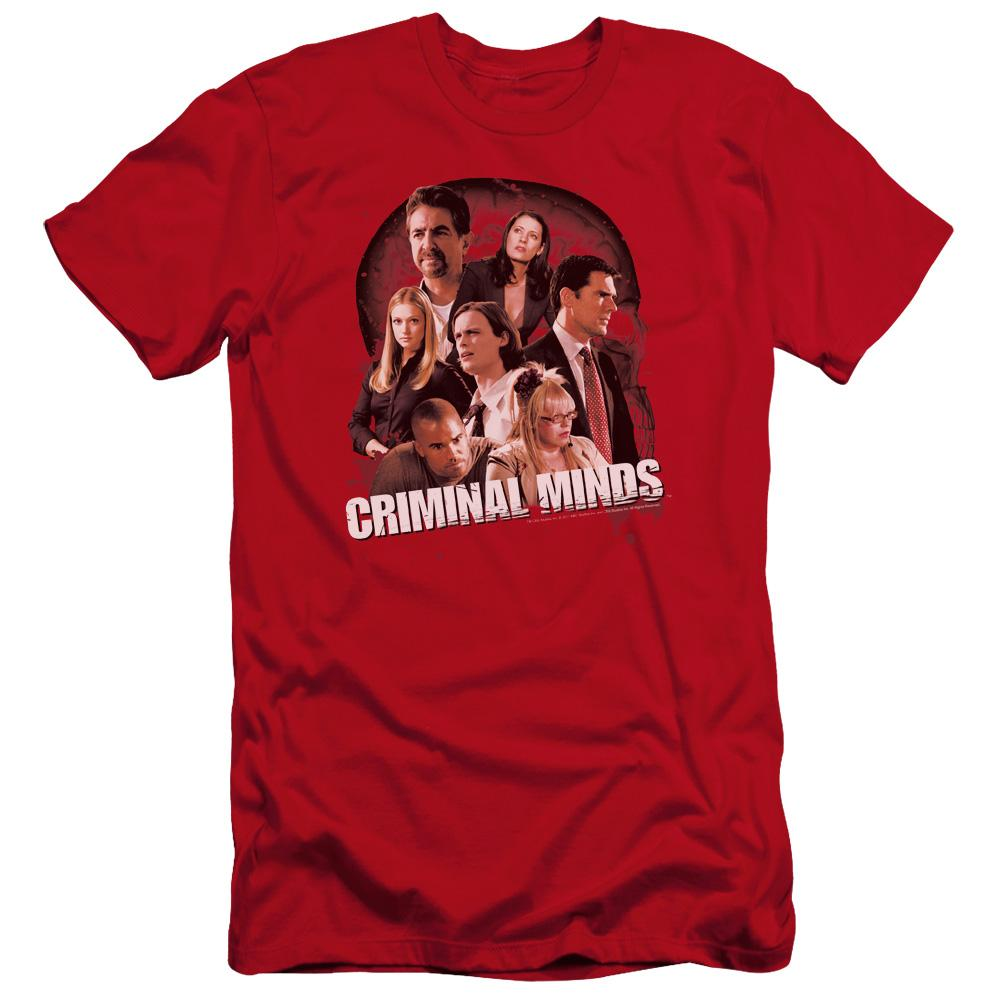 Criminal Minds Brain Trust Premium Adult Slim Fit T-Shirt