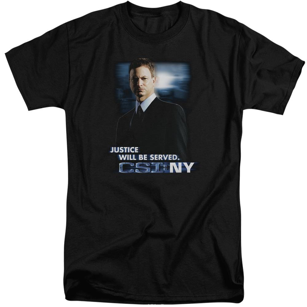 Csi:ny Justice Served Adult Tall Fit T-Shirt