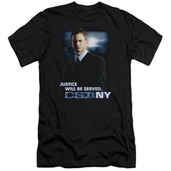 Csi:ny Justice Served Premium Adult Slim Fit T-Shirt