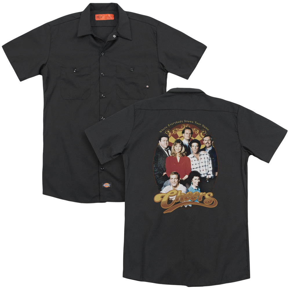 Cheers Group Shot Adult Work Shirt