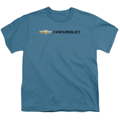 Chevrolet Chevy Bowtie Wide Front Youth T-Shirt (Ages 8-12)