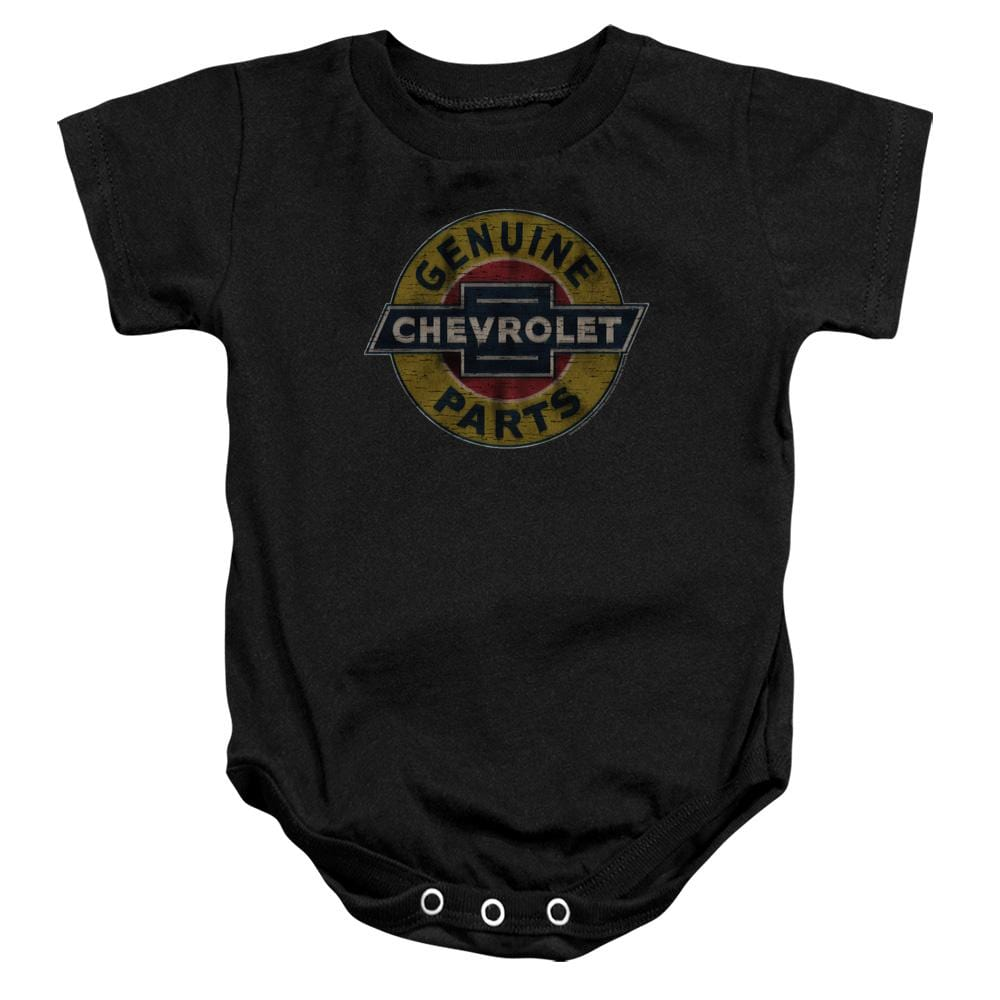 Chevy - Genuine Chevy Parts Distressed Sign Baby Onesie