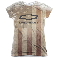 Chevy - American Pride Junior All Over Print 100% Poly T-Shirt