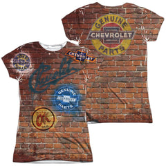 Chevrolet - Chevy Shop Wall Junior All Over Print 100% Poly T-Shirt