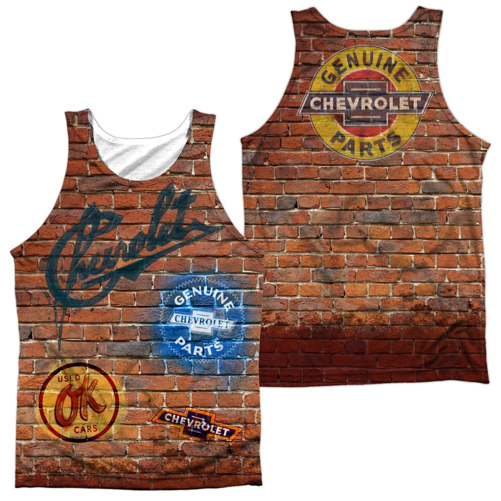 Chevrolet Chevy Shop Wall Adult Tank Top