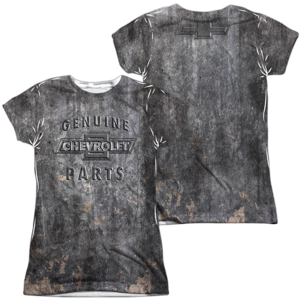 Chevrolet - Metal Bowtie Junior All Over Print 100% Poly T-Shirt