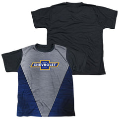 Chevrolet - Shiny Chevy Logo Youth Black Back 100% Poly T-Shirt