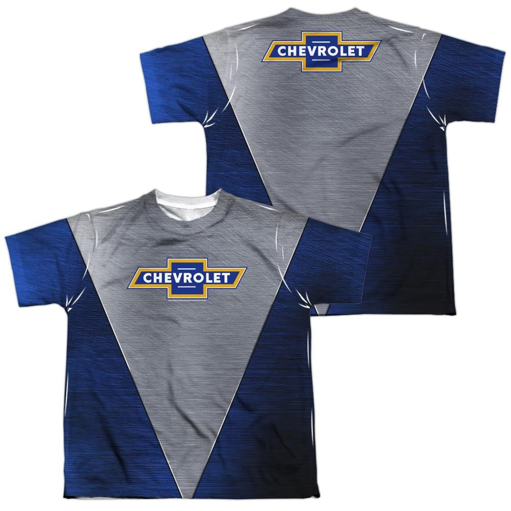 Chevrolet - Shiny Chevy Logo Youth All Over Print 100% Poly T-Shirt